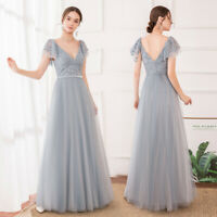Ever-Pretty Double V-Neck Sleeveless Party Evening Wedding Prom Dress Ball Gowns