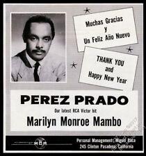 1955 Perez Prado photo music gig booking vintage print ad