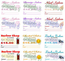 Gift Vouchers 24 Hair Beauty Nails Barber Certificates PRINTING PERSONALISED