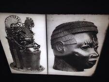 Benin Bronze Male Heads: African Tribal Art Vintage 35mm Slide