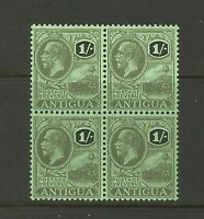 Antigua 1s Green/Black Block of 4 UMM Mint Stamp Great Condition Old Collection