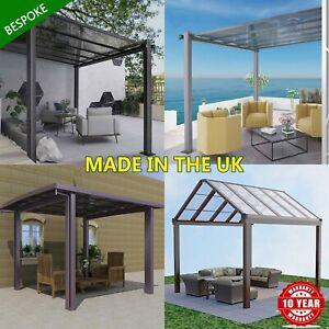 BESPOKE Freestanding Aluminium Veranda, Garden Pergola Canopy Palram Clear Glaze