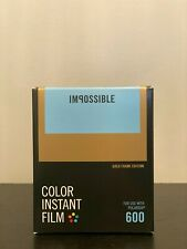 Impossible Project Gold Frame Color 600 Instant Film