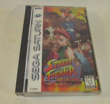 Street Fighter Collection (Sega Saturn, 1997) Complete CIB Nice Shape *READ*