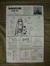 MARX 1974 NAVARONE PLAY SET ASSEMBLY INSTRUCTIONS (COPY) 3412 P-2224