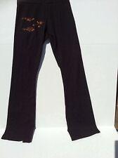 New black yoga pants flared asian butterflies design American Apparel