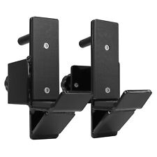 2 J-Hooks Attachment Barbell Storage Mounted For Power Rack Square Tube 2X3 Inch