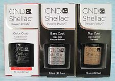 CND Shellac UV LED Gel Power Polish 3-pc Set BLACK POOL, BASE & TOP COAT Auth