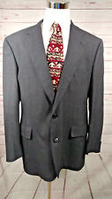 Brooks Brothers Golden Fleece Glen Plaid Gray With Red Windowpane Sport Coat 46L