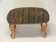 Pictorial Tapestry Hand Made Queen Anne Footstools