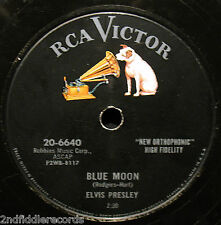 ELVIS PRESLEY-Blue Moon & Just Because-Nice Quality 78-RCA VICTOR #20-6640