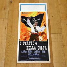 I PIRATI DELLA COSTA locandina poster Lorenzon Barker Orfei Blain AN34