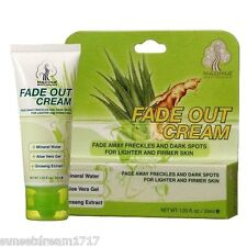 FADE OUT CREAM AloeVera Ginseng Vitamin E 1.05oz - Freckles Dark Spots Lighter