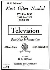 Beitman's Television Servicing Information * TV Schematics * Vols 1 - 29 * PDF