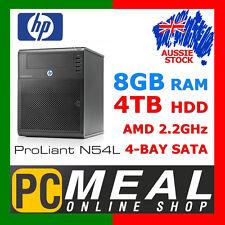 HP ProLiant N54L MicroServer 4TB NAS Dual Core 2.2G 8GB 4-Bay Gigabit eSATA RAID