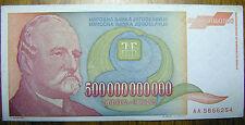Yugoslavia 500000000000 500 Billion Yugoslavian Dinara 1993 Paper Money Belgrade