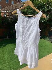 Polo Ralph Lauren Girls White Summer Dress Age 14 Height 150cm Never Worn