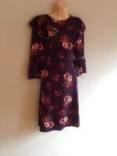 DOROTHY PERKINS TALL PURPLE FLORAL DRESS 8 BNWT RRP £32