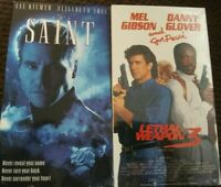 The Saint VHS w/ Val Kilmer and Lethal Weapon 3 VHS NEW w/ Gibson Glover