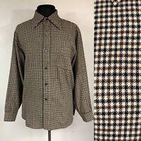 VTG 80s Pendleton Mens Wool Shirt Button Down Tweed Large