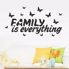 Family Is Everything Wall Removable Stickers Art Quote Vinyl Decals Decor DIY