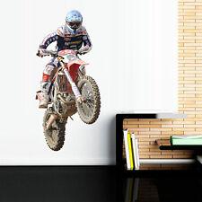 Full Color Wall Decal Sticker Dirt Bike Moto Motorcycle Motocross Biker mcol55