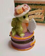 """Ladies Hat Box"" Trinket Box Whimsical World Pocket Dragons Real Musgrave w Box"