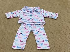 Doll Clothes fits 18 inch American Girl Pajamas Pink Dogs