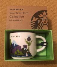 STARBUCKS SCOTLAND: 'You Are Here' 2oz Mug Ornament Collection UK New Boxed Rare