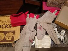 Vintage Burnham  Battery Heated Socks Hiker Outdoors Hunting Size 9.5-10 NEW
