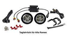 LED Tagfahrlicht 8 SMD rund Ø70-90mm E-Prüfzeichen DRL E4 für Alfa Romeo TFL2
