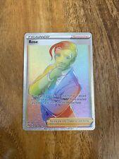 196/189 Rose | Rare Rainbow Card | SWSH-03 Pokemon Darkness Ablaze