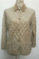 Ladies Barbour 10 Quilted Jacket 38 Cream Light Flyweight Langdale Beige Snapper