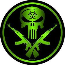 """1337 ProSticker (One) 4"""" Zombie Guns Decal Sticker Sniper Skull Bio Hazard"""