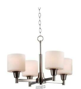 Hampton Bay Kitchen White Chandeliers Ceiling Fixtures For Sale In Stock Ebay