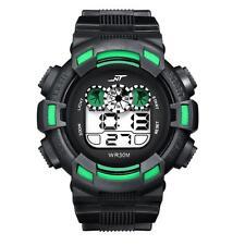 Boys LED Digital Date Alarm Waterproof Rubber Sports Army Wristwatch A2