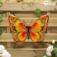 Garden Gear Large Metal & Glass Hanging Butterfly Indoor & Outdoor Wall Art NEW
