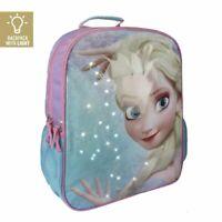 Disney Frozen Elsa Light Up Large 40 cm Blue Backpack School Travel Rucksack Bag