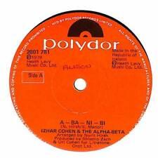 "Izhar Cohen And Alpha Beta - A-Ba-Ni-Bi - Import - 7"" Record Single"