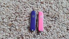 Lot of 2 Victorinox Swiss Army Knife Classic SD Pink & Purple