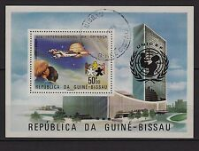 Ga10 Timbre-Stamp-Bloc GUINE-BISSAU Dia da criança (SPACE) Poste aérienne UNICEF