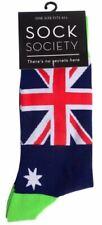 Sock Society Green Aussie Flag Novelty Socks Men Women One Size Fits All