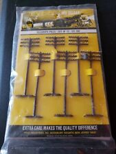 VINTAGE SET OF 12 TYCO TELEGRAPH POLES 121:100 HO SCALE NEW