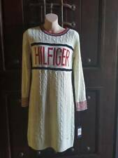 NWT TOMMY HILFIGER WHITE RED BLUE KNIT DRESS KNEE HIGH KNIT KNITTED STRIPES