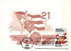 2097 20c Roberto Clemente, Maxi Card cachet in brown [091321.406]