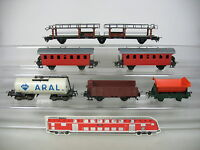 AP293-2# 6x Trix H0/DC Bastler-Personen-/Güterwagen: Aral+631455+63001 DB etc