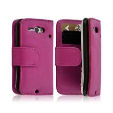 Housse Coque Etui Portefeuille pour HTC ChaCha couleur rose fuschia