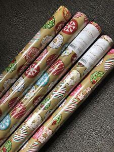 Target Wondershop Donut Doughnut Gift Wrap Wrapping Paper Set Of 5