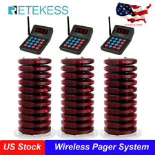 T119 Church Restaurant Wireless Queuing System 999Ch Transmitter+30Coaster Pager