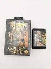 Golden Axe II 2 (Sega Genesis) Case & Game Cleaned Grid Black